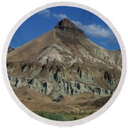 Round Beach Towel featuring the photograph Majestic Rimrock by Chalet Roome-Rigdon