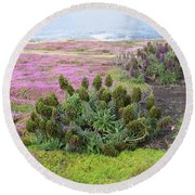 Majestic Shoreline Round Beach Towel by Joseph Baril