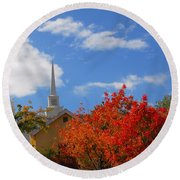 Round Beach Towel featuring the photograph Majesty by Lynn Bauer