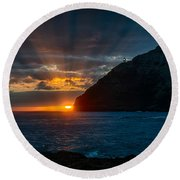 Makapuu Sunrise Round Beach Towel