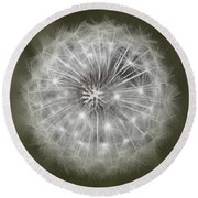 Make A Wish Round Beach Towel by Peggy Hughes