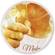 Make A Wish Round Beach Towel by Valerie Reeves