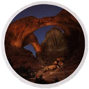Round Beach Towel featuring the photograph Make It A Double by David Andersen