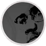 Malcolm X Round Beach Towel by Brian Reaves