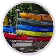 Malibu Kayaks Round Beach Towel