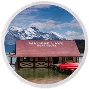 Maligne Lake Round Beach Towel
