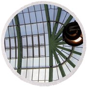 Round Beach Towel featuring the photograph Mall Of Emirates Skylight by Andrea Anderegg