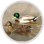 Mallards Round Beach Towel