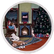 Mallory Christmas Round Beach Towel