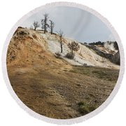 Mammoth Hot Springs Round Beach Towel by Belinda Greb