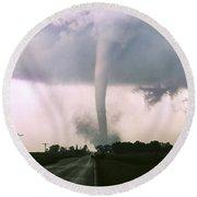 Manchester Tornado 4 Of 6 Round Beach Towel by Jason Politte