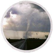 Manchester Tornado 5 Of 6 Round Beach Towel by Jason Politte