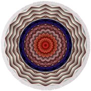 Round Beach Towel featuring the digital art Mandala 10 by Terry Reynoldson