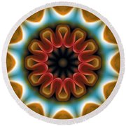 Round Beach Towel featuring the digital art Mandala 100 by Terry Reynoldson