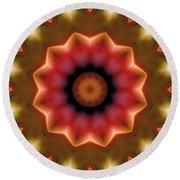 Round Beach Towel featuring the digital art Mandala 103 by Terry Reynoldson