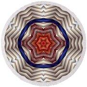 Round Beach Towel featuring the digital art Mandala 12 by Terry Reynoldson