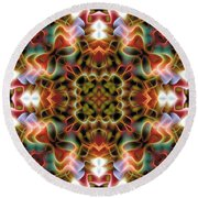 Mandala 120 Round Beach Towel by Terry Reynoldson