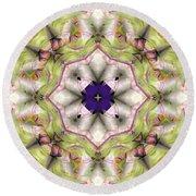 Round Beach Towel featuring the digital art Mandala 127 by Terry Reynoldson