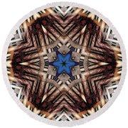 Round Beach Towel featuring the digital art Mandala 13 by Terry Reynoldson