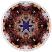 Round Beach Towel featuring the digital art Mandala 14 by Terry Reynoldson