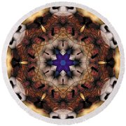 Round Beach Towel featuring the digital art Mandala 16 by Terry Reynoldson