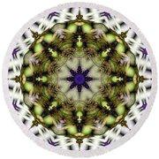 Round Beach Towel featuring the digital art Mandala 21 by Terry Reynoldson