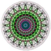 Round Beach Towel featuring the digital art Mandala 26 by Terry Reynoldson