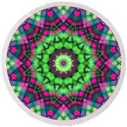 Round Beach Towel featuring the digital art Mandala 29 by Terry Reynoldson