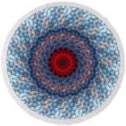 Round Beach Towel featuring the digital art Mandala 3 by Terry Reynoldson