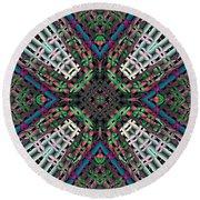 Round Beach Towel featuring the digital art Mandala 32 by Terry Reynoldson