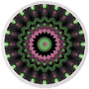 Round Beach Towel featuring the digital art Mandala 34 by Terry Reynoldson