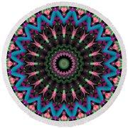 Round Beach Towel featuring the digital art Mandala 35 by Terry Reynoldson