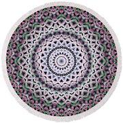 Round Beach Towel featuring the digital art Mandala 38 by Terry Reynoldson