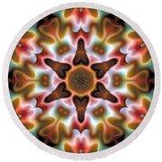 Round Beach Towel featuring the digital art Mandala 68 by Terry Reynoldson