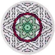 Round Beach Towel featuring the photograph Mandala 7 by Terry Reynoldson