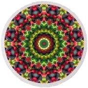 Round Beach Towel featuring the digital art Mandala 70 by Terry Reynoldson