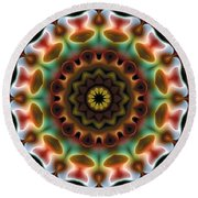 Round Beach Towel featuring the digital art Mandala 74 by Terry Reynoldson