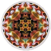 Round Beach Towel featuring the digital art Mandala 76 by Terry Reynoldson