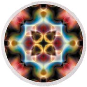 Round Beach Towel featuring the digital art Mandala 77 by Terry Reynoldson