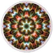 Round Beach Towel featuring the digital art Mandala 80 by Terry Reynoldson