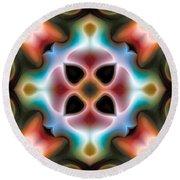 Round Beach Towel featuring the digital art Mandala 82 by Terry Reynoldson