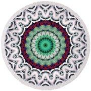 Round Beach Towel featuring the digital art Mandala 9 by Terry Reynoldson
