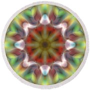 Round Beach Towel featuring the digital art Mandala 97 by Terry Reynoldson