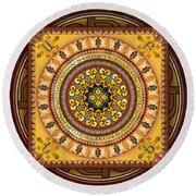 Mandala Armenia 'iypenkimta' Sp Round Beach Towel