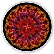 Mandala Of Love Round Beach Towel
