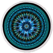 Mandala Of Peace Round Beach Towel