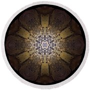 Mandala Sand Dollar At Wells Round Beach Towel