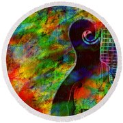 Mandolin Magic Round Beach Towel
