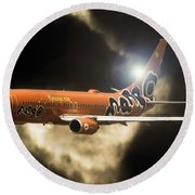 Round Beach Towel featuring the photograph Mango by Paul Job