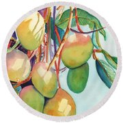 Mangoes Round Beach Towel